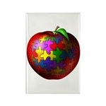 Puzzle Apple Rectangle Magnet (10 pack)