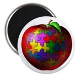 "Puzzle Apple 2.25"" Magnet (100 pack)"