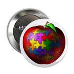 "Puzzle Apple 2.25"" Button (10 pack)"