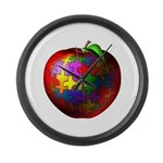 Puzzle Apple Large Wall Clock