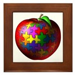 Puzzle Apple Framed Tile