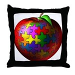Puzzle Apple Throw Pillow