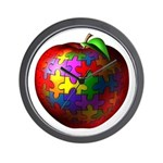 Puzzle Apple Wall Clock