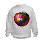 Puzzle Apple Kids Sweatshirt