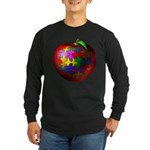 Puzzle Apple Long Sleeve Dark T-Shirt