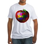 Puzzle Apple Fitted T-Shirt