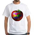 Puzzle Apple White T-Shirt