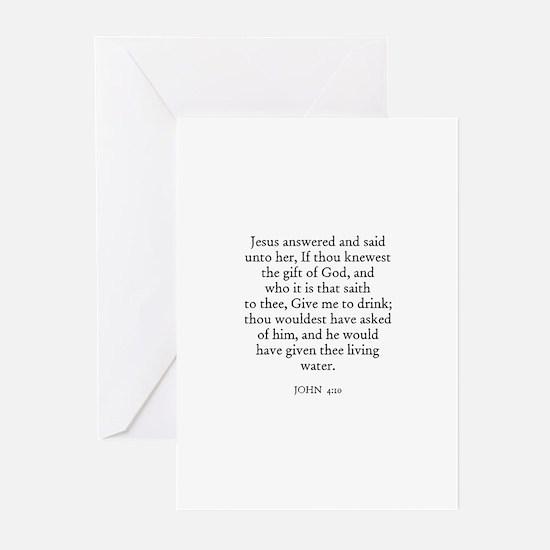 JOHN  4:10 Greeting Cards (Pk of 10)