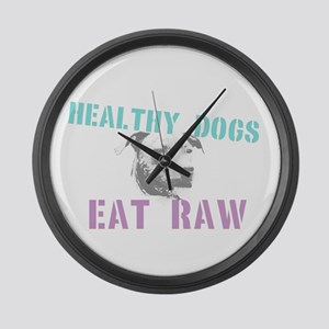 Healthy Dogs Large Wall Clock