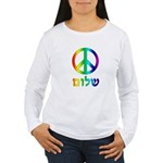 Shalom - Peace Sign Women's Long Sleeve T-Shirt