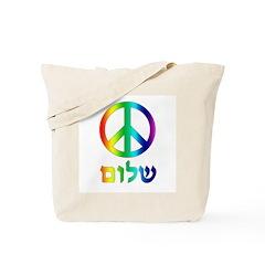 Shalom - Peace Sign Tote Bag