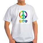 Shalom - Peace Sign Light T-Shirt
