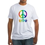 Shalom - Peace Sign Fitted T-Shirt