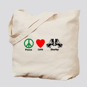 Peace Love Derby Tote Bag