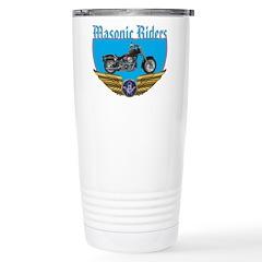 Masonic Bikers w/wings Stainless Steel Travel Mug