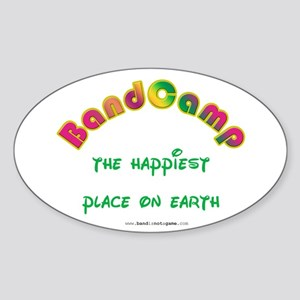 Happiest Place on Earth Oval Sticker