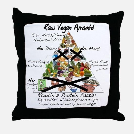 Raw Vegan Pyramid Throw Pillow