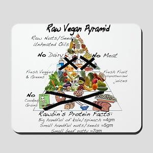 Raw Vegan Pyramid Mousepad