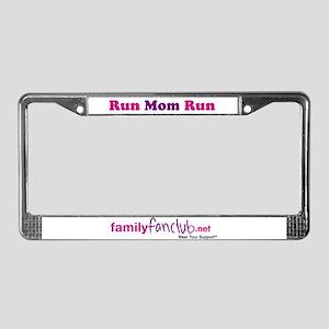 Run Mom Run License Plate Frame
