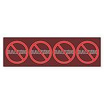 No Racism Bumper Sticker (10 pk)
