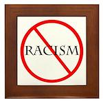 No Racism Framed Tile