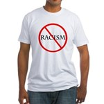 No Racism Fitted T-Shirt