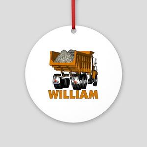 William Dumptruck Ornament (Round)