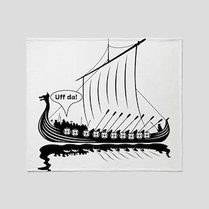 Uff Da Viking Dragon Ship Throw Blanket