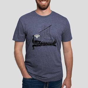 Uff Da Viking Dragon Ship Mens Tri-blend T-Shirt