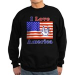 ILY America Flag Sweatshirt (dark)