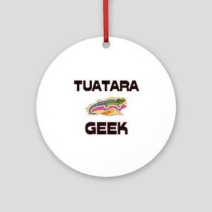 Tuatara Geek Ornament (Round)