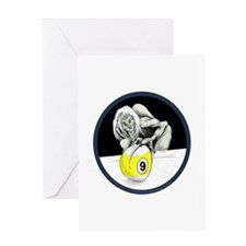 9 Ball Monster Greeting Cards