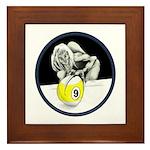 9 Ball Monster Framed Tile