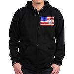 ILY Flag Zip Hoodie (dark)