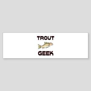 Trumpeter Swan Geek Bumper Sticker