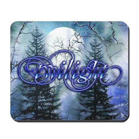 Moonlight Twilight Forest Mousepad
