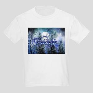 Moonlight Twilight Forest Kids Light T-Shirt