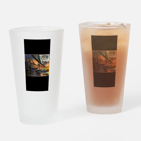 Sunset Bridge Drinking Glass