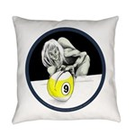 9 Ball Monster Everyday Pillow