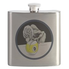 9 Ball Monster Flask