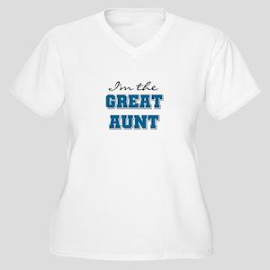 Blue Great Aunt Women's Plus Size V-Neck T-Shirt