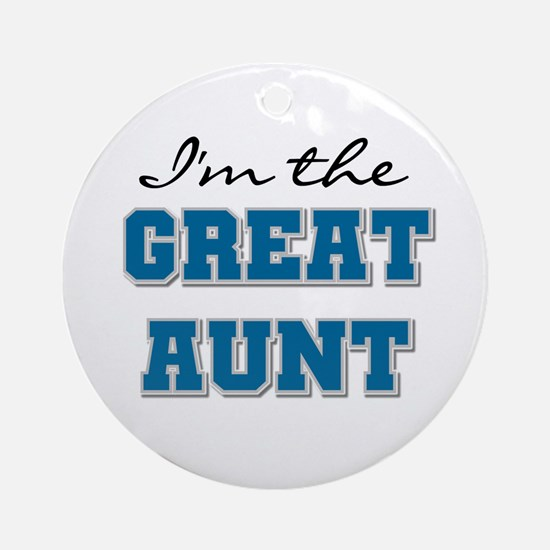 Blue Great Aunt Ornament (Round)