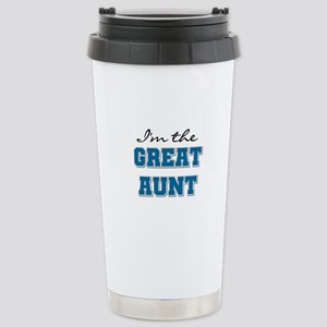 Blue Great Aunt Stainless Steel Travel Mug