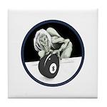 8 Ball Monster Tile Coaster