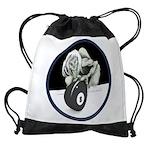 8 Ball Monster Drawstring Bag