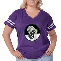 8 Ball Monster Women's Plus Size Football T-Shirt
