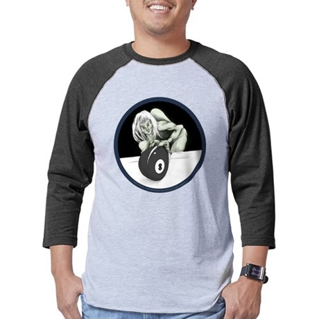 Jekyll Meets Hyde Twisted 8 Ball Monster Mens Baseball Tee