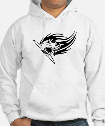 Shark with flames Hoodie