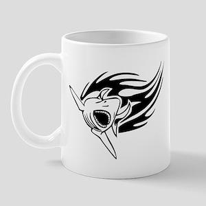 Shark with flames Mug