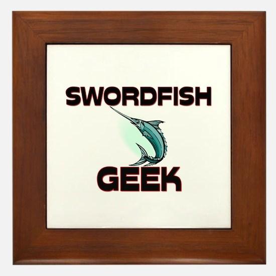 Swordfish Geek Framed Tile